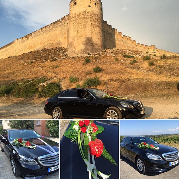 Chauffeur privé voiture de luxe mariage location