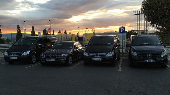 Flotte véhicules SUD VTC - Mercedes, Porshe
