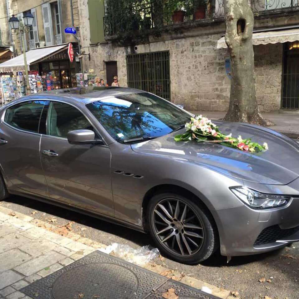 Location voiture mariage - Porshe Maserati