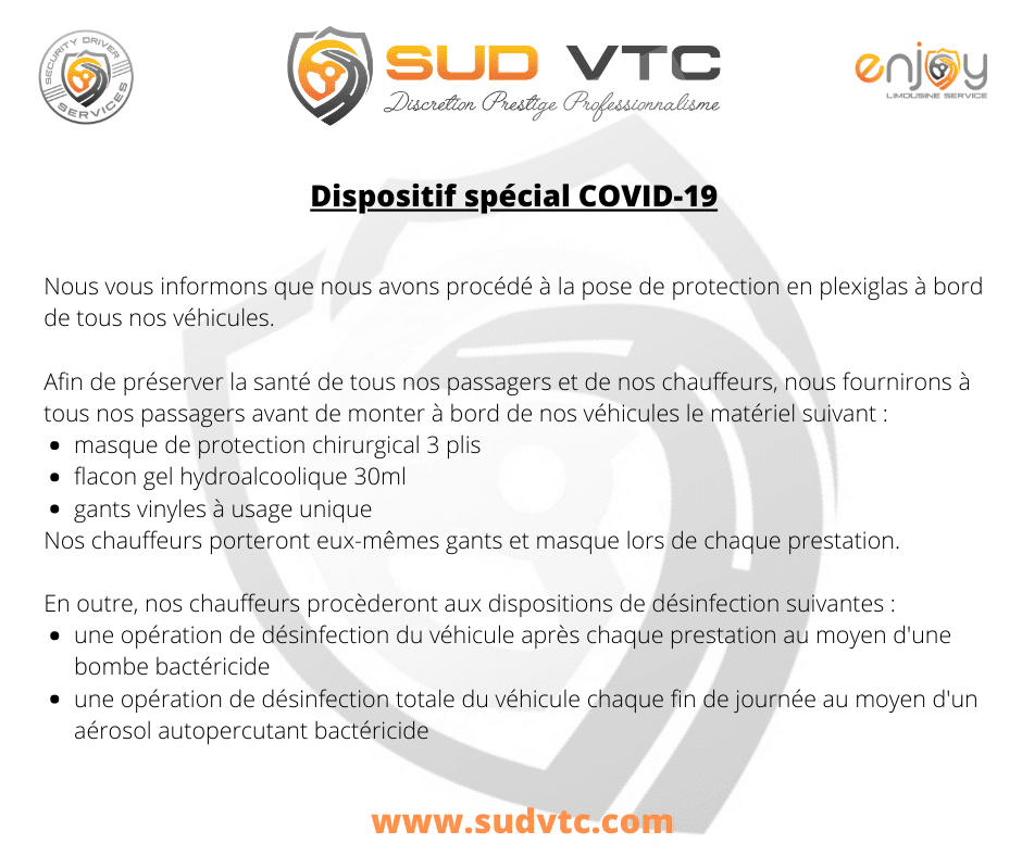 Dispositif Covid VTC
